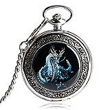 MILIYA Dragon Skeleton Mechanical Pocket Watch Pendant Full Hunter Mens Watches