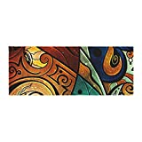 Kess InHouse Mandie Manzano Sea Dance Blue Orange Bed Runner, 34'' x 86''