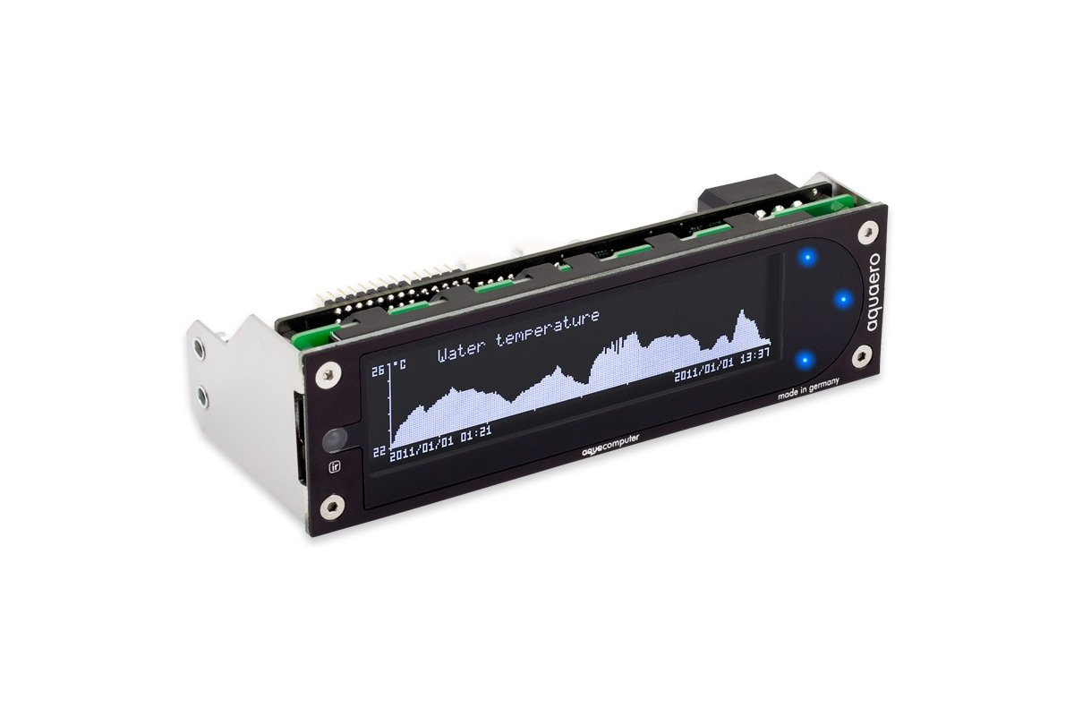 Aquacomputer aquaero 6 XT black/blue USB fan controller, graphic LCD, touch control, IR remote control by Aquacomputer (Image #1)