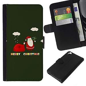 EJOY---La carpeta del tirón la caja de cuero de alta calidad de la PU Caso protector / HTC Desire 820 / --Invierno Feliz Navidad Vacaciones de regalos