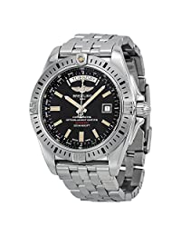Breitling Galactic 44 Black Dial Day/Date Automatic Mens Watch A45320B9-BD42SS
