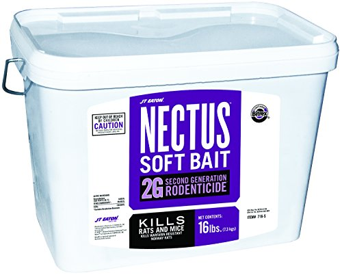 JT Eaton 716-S Nectus Soft Bait 2G Second Generation Rodenticide, Bait for Rats and Mice, 16-Pound Pail