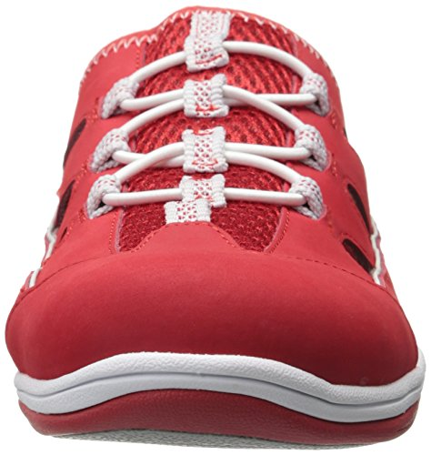 Womens Easy Easy Fabric Sneaker Fashion Street Womens Street Leather Barbara Red rggIqHx
