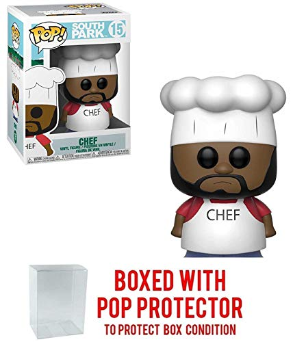 Funko Pop! Animation: South Park - Chef Vinyl Figure (Includes Pop Box Protector Case)