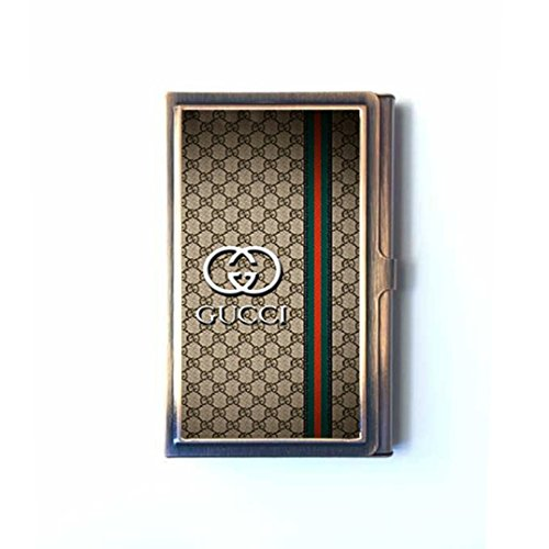 Gucci 15 custom business name card holder stainless steel bronze gucci 15 custom business name card holder stainless steel bronze case buy online in ksa office product products in saudi arabia colourmoves
