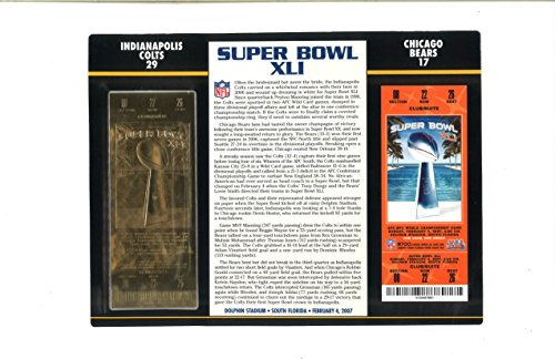 Super Bowl XLI Golden Ticket - Indianapolis Colts, Chicago Bears