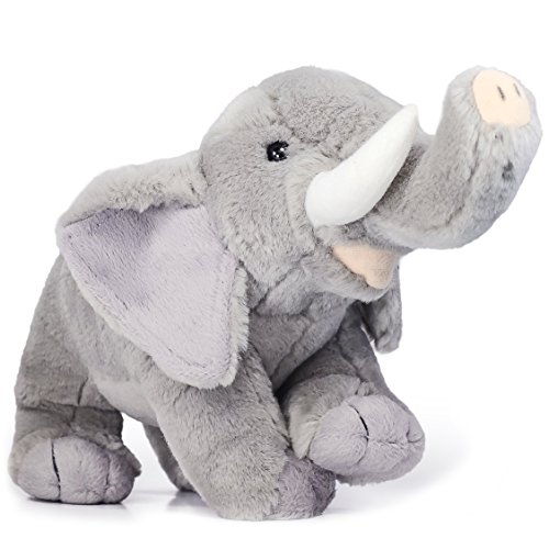 VIAHART Eugene The Elephant | 11 Inch Realistic Looking Stuffed Animal Plush | by Tiger Tale Toys (11 Elephant Plush)