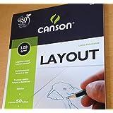 Bloco Layout Canson 120g/m² A4 21 x 29,7 cm com 50 Folhas - 7154