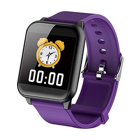 QTEC Reloj Inteligente Púrpura Moda Smart Watch 1.3 IPS Alta ...