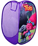 Trolls Kids Laundry Basket,Bin Bag Girls/Boys Toys,Clothes Storage,Official