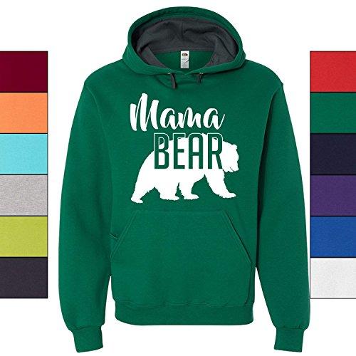 Custom Apparel House Mama Bear Hoodie Mom Women Soft Hoodie Adult Unisex,Medium, Clover