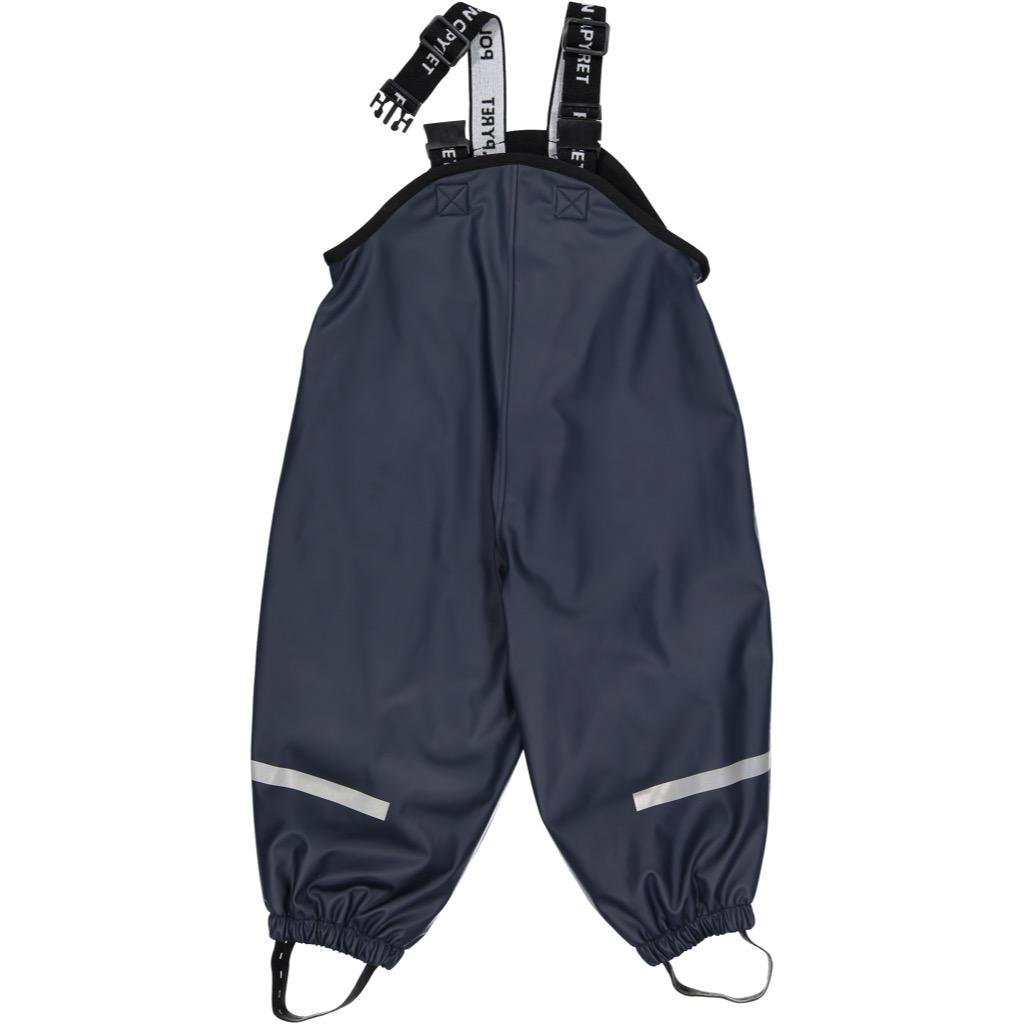Polarn O. Pyret Fleece Lined Waterproof RAIN Pant (Baby) - 6-12 Months/Dark Sapphire by Polarn O. Pyret