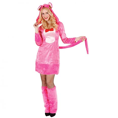 Mortino Disfraz de Mujer Pantera Rosa con Tobillo-Animal ...