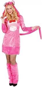 Mortino Disfraz de Mujer Pantera Rosa con Tobillo-Animal Traje ...