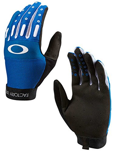 Oakley Cycling Factory Lite Gloves 2.0 - Blue Line - - Oakley Bicycle