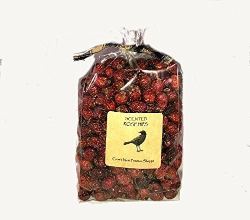 Scented Whole Dried Bulk Rosehips to Display as Potpourri and Bowl Fillers Country Primitive Decoration with Fragrance of your Choice. (Primitive Display)