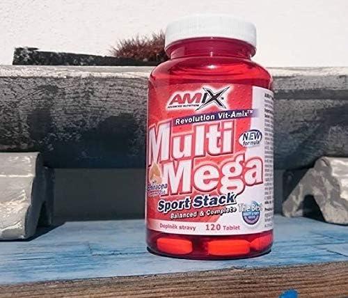 AMIX - Complejo Vitamínico - Multi Mega Stack con Vitaminas y Minerales - 120 Tabletas - Mejora el Rendimiento Físico y Mental - Suplemento con Hierro ...