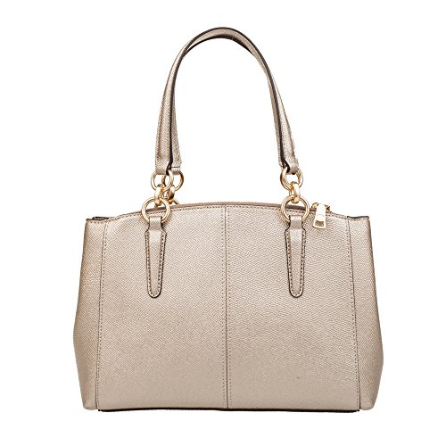 Leather Christie Crossgrain Carryall Gold in Bare Coach xvfOwSqS