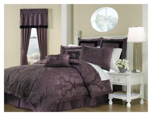 Royal Heritage Home Lorenzo Purple 8-Piece King Size Comforter Set
