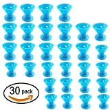 30 Pcs Hair Care Rollers Hair Curlers Silicone No Clip Hair Style Rollers Soft Magic DIY Curling Hairstyle Tools Hair Accessories For Women Girls (blue)