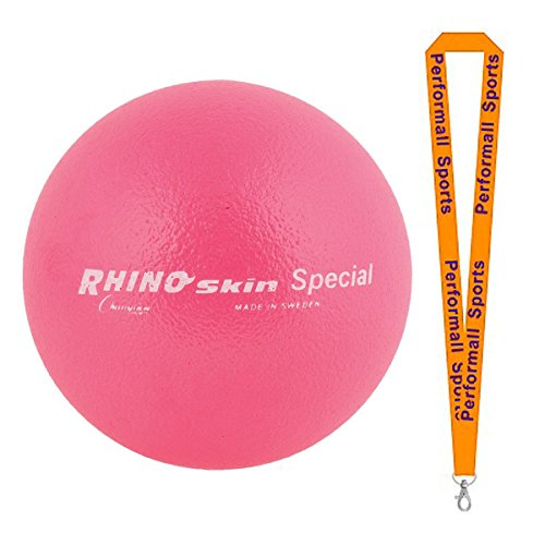 Champion Sports Rhino Skin Ball Neon Pink Bundle with 1 Performall Lanyard RS85NPK-1P by Champion Sports