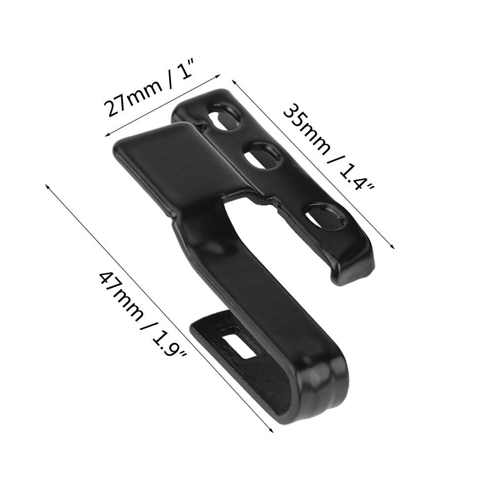 Qiilu Universal 2 Juego de kit de montaje del adaptador del brazo de la cuchilla del limpiaparabrisas delantero