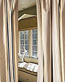 Cheap Stripe N Stripe Pure Silk Satin curtain. (52″W X 108″L)