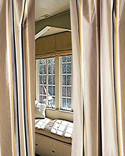 Stripe N Stripe Pure Silk Satin curtain. (52
