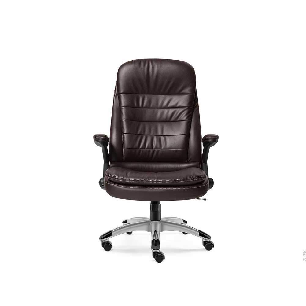 XUERUI 快適 回転椅子 PU ボス オフィス 椅子 できる 横になる 回転する 家庭 本 ルーム 余暇 椅子 耐久性のある (色 : Brown(2)) B07L4B8LLG Brown(2)