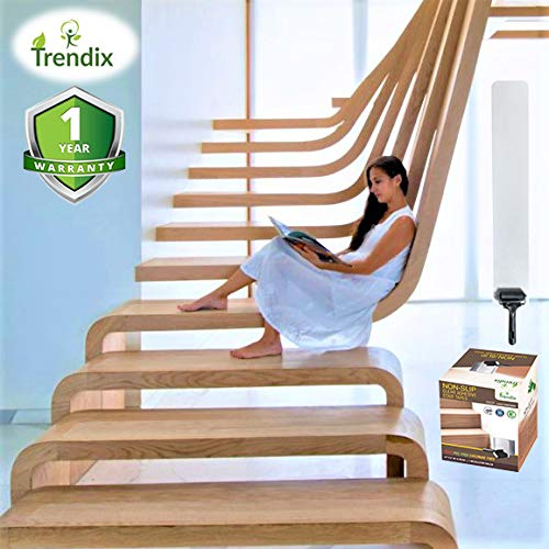 Non Slip Tape Stair Treads Anti Skid Clear Grip Adhesive Step Cover Strips Indoor Wood Safety Floor Dog Kids Pet Waterproof transparent PVC free Staircase hardwood roller kit protection