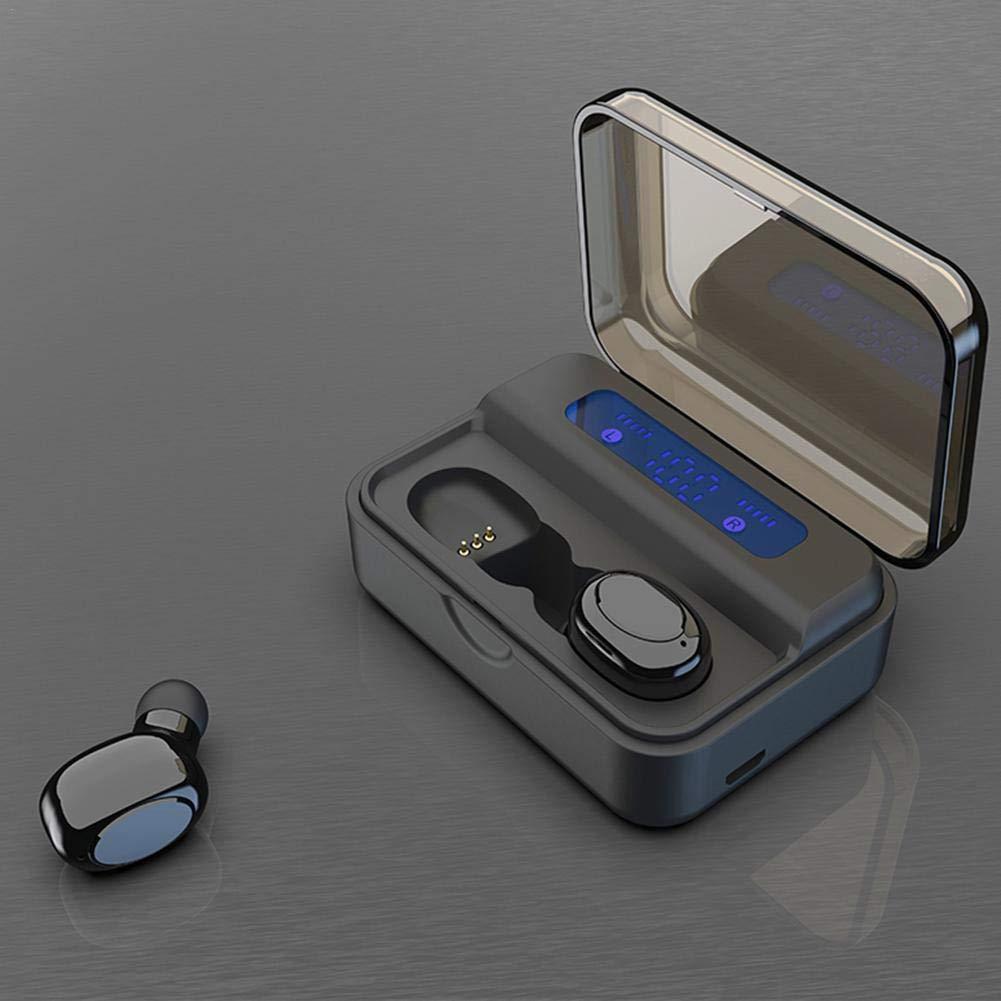 precauti TWS Bluetooth 5.0 Auricolari Touch in-Ear Auricolari accoppiati Automatici IP67 CVC8.0 Cuffie Sportive con Scatola di Ricarica Digitale 2200mAh