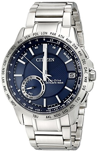 World Timer Eco Drive Mens - Citizen Men's CC3000-89L Satellite Wave Analog Display Japanese Quartz Silver Watch