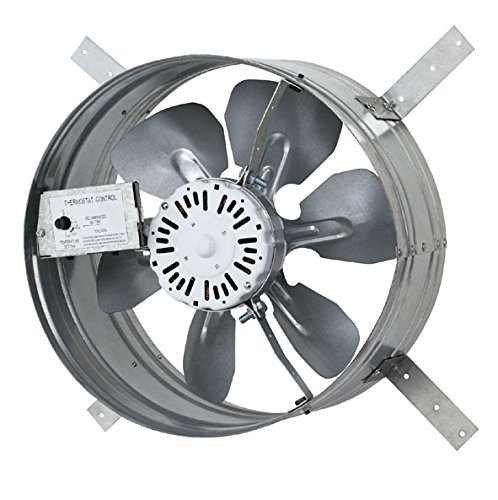 Iliving ILG8G14-12T Newest Automatic Gable Mount Attic Ventilator Fan with Adjustable Thermostat, 3.10 Amp ()