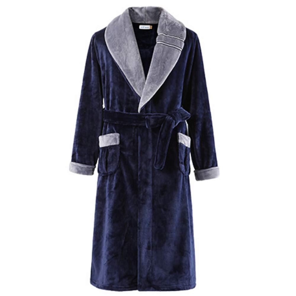 Albornoz Nan Liang 100% Cottonbathrobes, Toalla Larga para Hombres, Espesar Lujo Cálido, Ropa De Hogar Holgada De Manga Larga (Tamaño : XL): Amazon.es: ...
