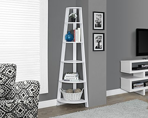 White 72''H Corner Accent Etagere by Michael Anthony