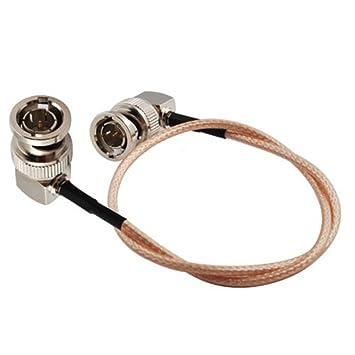 Eonvic - Cable coaxial RG179, 75Ohm, BNC macho, ángulo