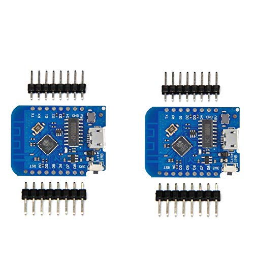 HiLetgo 2pcs Wemos D1 Mini Development Board ESP8285 V1.0.0 1MB Flash Lite Wireless WiFi Internet Development Board Wemos D1 Mini ESP8285 by HiLetgo