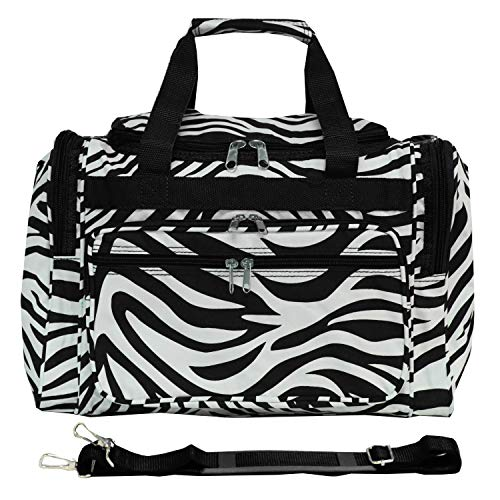 World Traveler 81T16-163  Duffle Bag, One Size, Black Trim Zebra