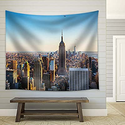 New York City - Fabric Tapestry, Home Decor - 51x60 inches