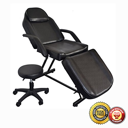 Adjustable Spa Facial Tattoo Massage Bed Chair Beauty Equ...