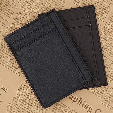 Grey990 Fashion Men Genuine Leather Bifold Wallet Photo Card Holder Short Purse Coffee