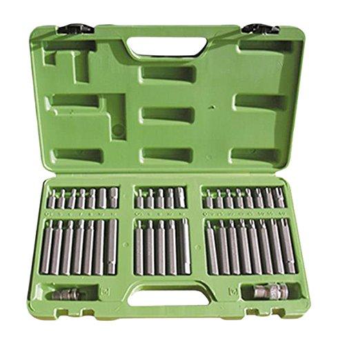 JBM 50983 Llaves para Tornillos de 12 y 6 Cantos con 2 adaptadores en Estuche