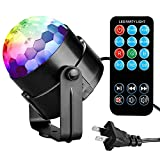 Tools & Hardware : Party Lights Disco Ball Tabiger Disco Lights DJ Light Sound Activated Strobe Light 3W 7 Colors Stage Lights Xmas Karaoke Disco Ball Light for Kids Birthday Home Party Club Pub Wedding with Remote