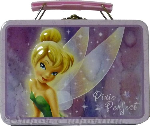 ossed Snack Size Tin Tote Box with Snap Lock ~ - Tinkerbell (Pixie Perfect) (Tinkerbell Snap)