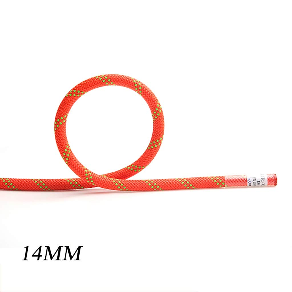 14MM 50M GLJJQMY Climbing Rope Aerial Work Rope Wear Rope Static Rope Outdoor Rock Climbing Rescue 12mm 14mm Ropes (color   14MM, Size   50M)