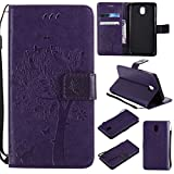 Galaxy J5 2017 Wallet Case, UNEXTATI Leather Flip Cover Case with Kickstand Feature for Samsung Galaxy J5 2017 (Purple #9)
