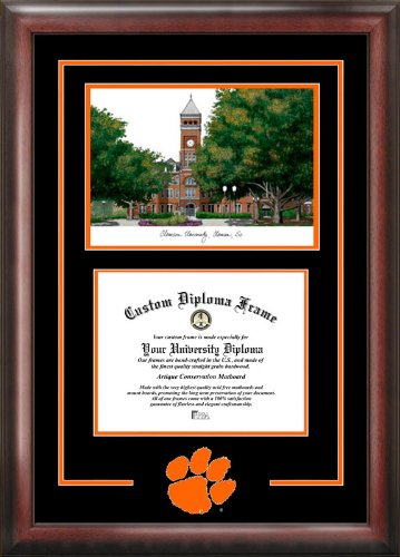 - Campus Images SC994SG Clemson University Spirit Graduate Diploma Frame with Lithograph Print, 8.5