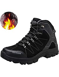Mens Mid Trekking Hiking Boots Outdoor Hiker Winter Boots