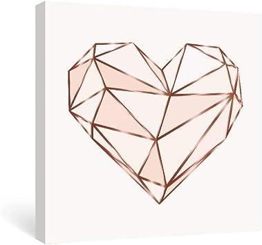Amazon.com: SUMGAR - Cuadro de pared de color rosa con ...