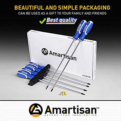 Amartisan 6-Piece Extra Long Torx Screwdrivers Set, length 12''(300mm) T10 - T30, Long Long star Screwdrivers Set: Home Improvement